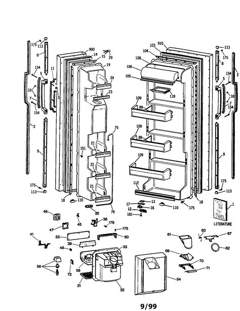 ge profile refrigerator diagram refrigerator parts ge side by side refrigerator parts diagram