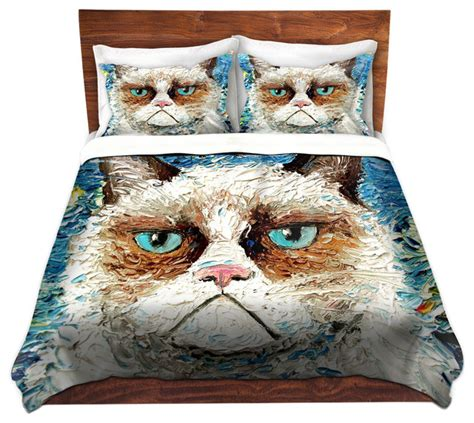 cat design quilt cover dianoche duvet covers twill vincent van no contemporary