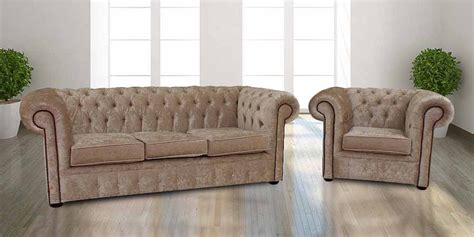 Buy Velvet Fabric Chesterfield Sofa Armchair Suite Chesterfield Sofa Velvet Fabric