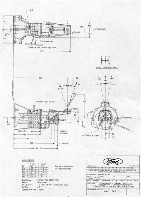 Diagram: gearbox diagrams/dimensions