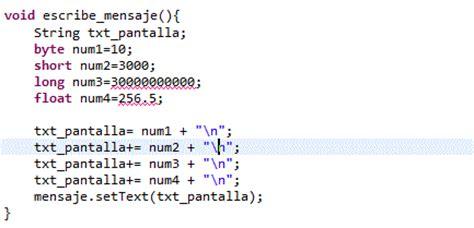 cadena numerica java variables expresiones y constantes