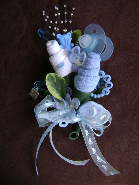 baby shower corsage baby boy washcloth corsage by