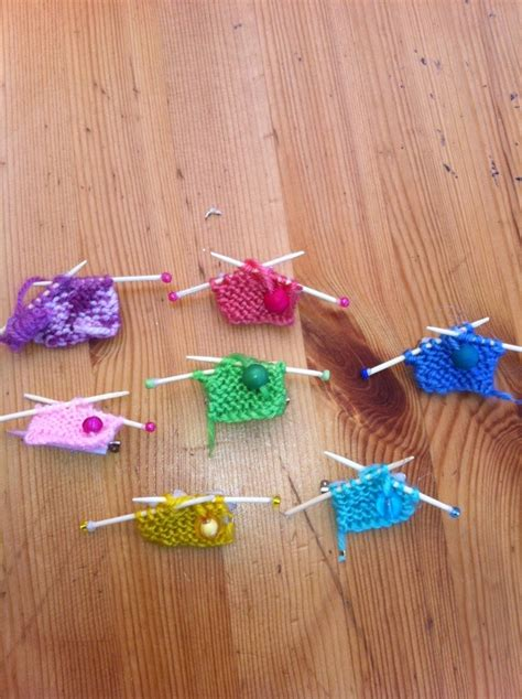 Handmade Brooches - knitted and handmade brooch knitting needles and knitting