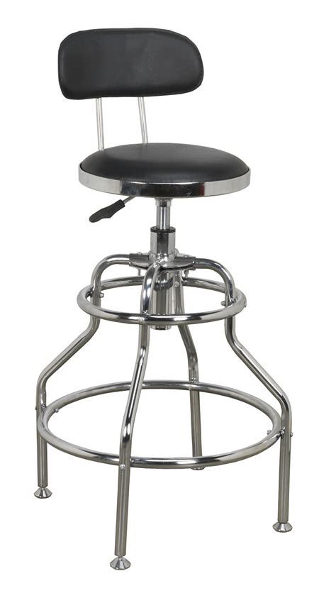 Adjustable Swivel Stool With Back by Sealey Workshop Stool Pneumatic With Adjustable Height