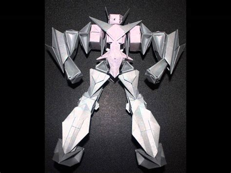 membuat origami robot transformer origami robot 6 youtube