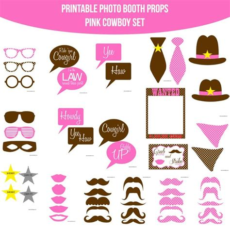 breakfast at t s printable photo booth props 38 best images about cowboy party on pinterest