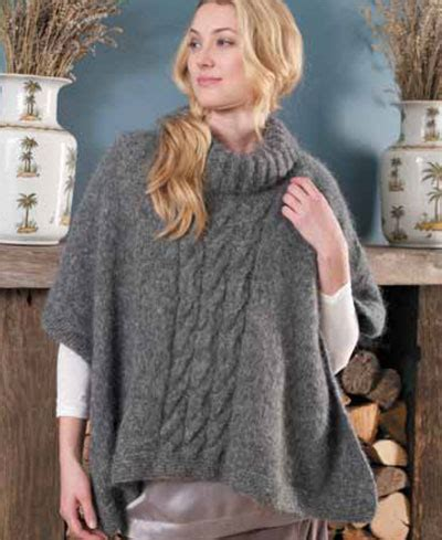 poncho free knitting pattern free easy knitted poncho pattern