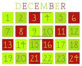 Printable Countdown Calendar Printable Christmas Calendar Countdown Calendar Template
