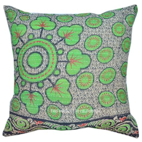 authentic kantha pillow cover royalfurnish