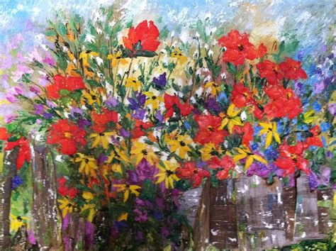 Flower Garden Painting S Flower Garden Painting By Helen Wendle