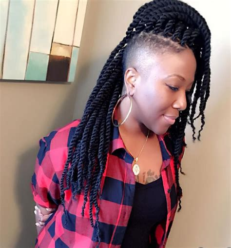 hair braided on the top but cut close on the side braid hairstyles for black women 19 braid hairstyles