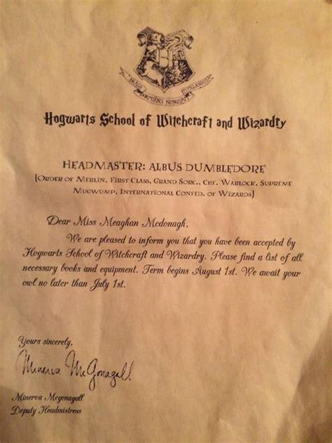 Make Harry Potter Acceptance Letter new make your own hogwarts acceptance letter letter