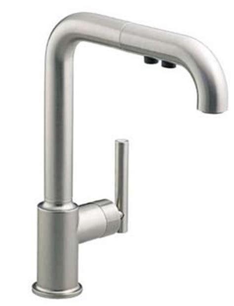 Spigot Vs Faucet by Kohler K 7505 Vs Purist Single Kitchen Sink Faucet With 8 In Pullout Spout Vibrant