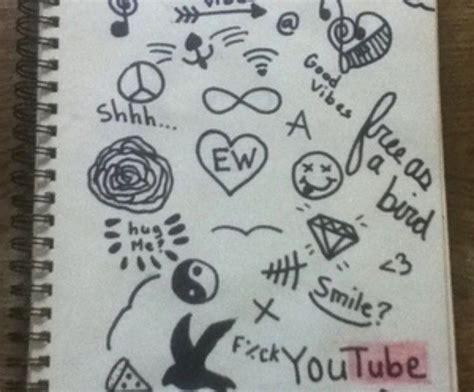 doodle imagine draw notebook resultado de imagen de simple doodles cuadernos