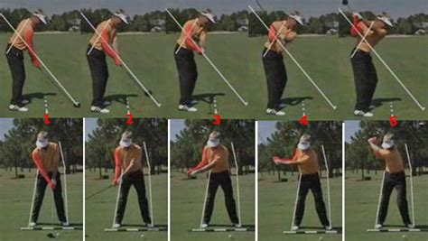 perfect golf swing takeaway how to move the arms