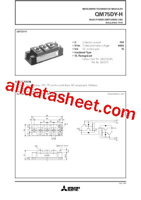 qm75dy h 데이터시트 pdf mitsubishi electric semiconductor