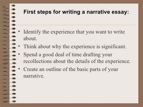 How To Begin A Narrative Essay by A Narrative Essay