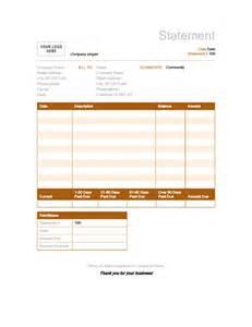 invoice statement template billing statement rust design office templates