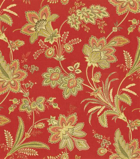 red home decor fabric home decor print fabric pkaufmann barano vintage red at