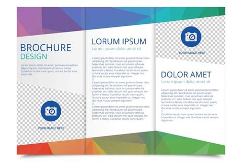 tri fold brochure layout design template free tri fold brochure vector template download free