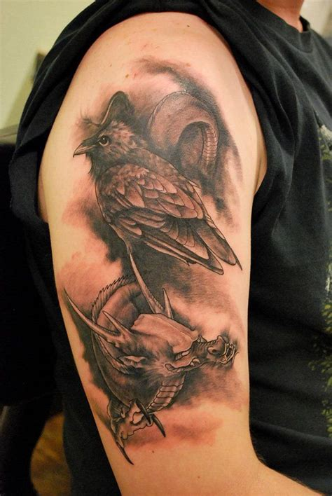 raven sleeve tattoo designs 60 mysterious tattoos design and