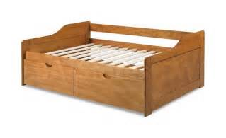 Full Beds With Trundle Sale 416 00 Rio Twin Daybed With Drawers Honey Pine