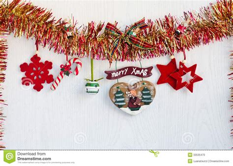 yellowing on white tinsel decorations hanging from and yellow tinsel stock photo image 33535470