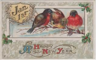 wonderful wonderblog vintage new year postcards