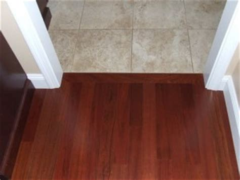 What Direction To Install Wood Flooring by Hardwood To Tile Transition How To Make The Transition