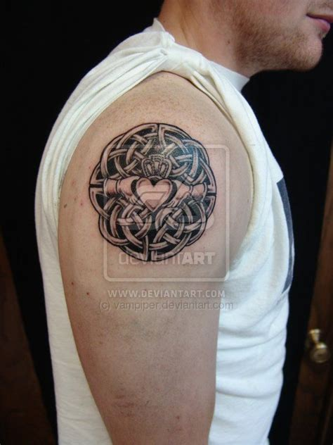 weave tattoo designs claddagh idea minus all the weaving in the