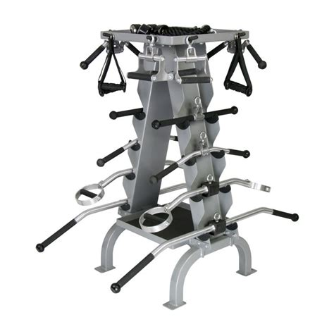 american barbell accessory rack for cable attachments st