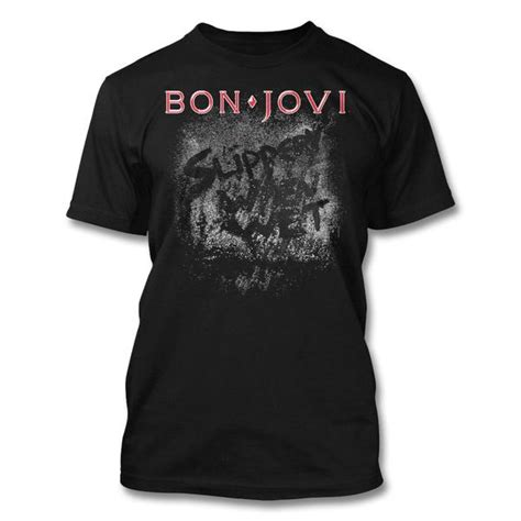 official bon jovi slippery when t shirt bon jovi