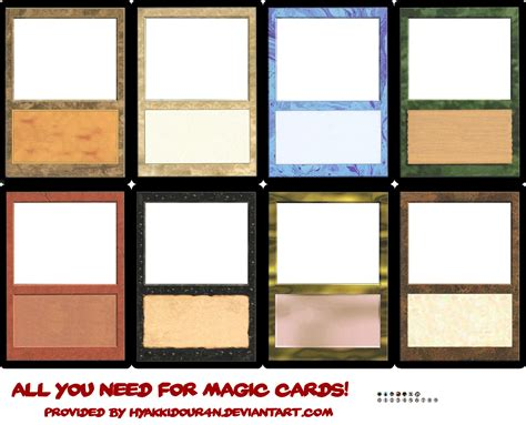 magic card template magic cards templates by hyakkidour4n on deviantart
