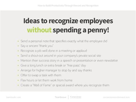 How To Build Productivity Through Reward And Recognition Employee Recognition Speech