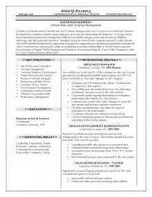 free resume sles doc 638825 curriculum vitae sle sales executive free