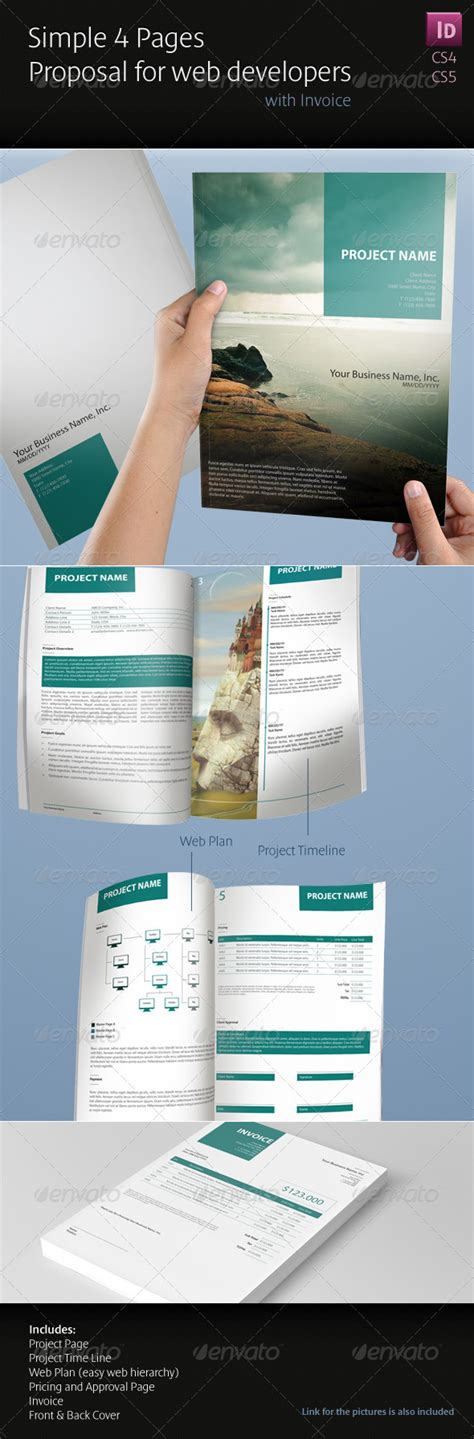 web design proposal graphicriver simple 4 pages proposal for web developers proposals