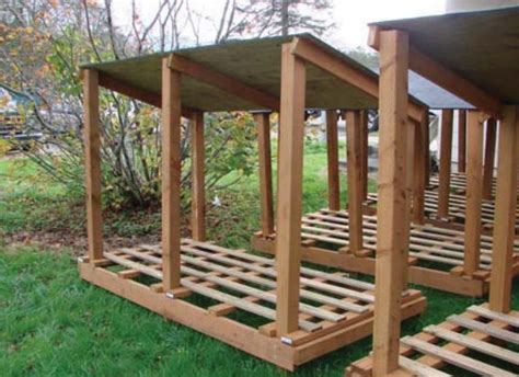 build a firewood rack the easy way 10 wood shed plans to keep firewood the self sufficient living