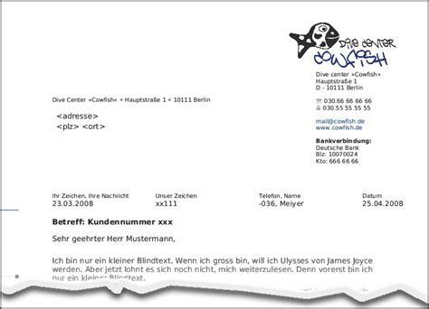 Standard Briefvorlage Briefvorlagen Nach Din F 252 R Openoffice