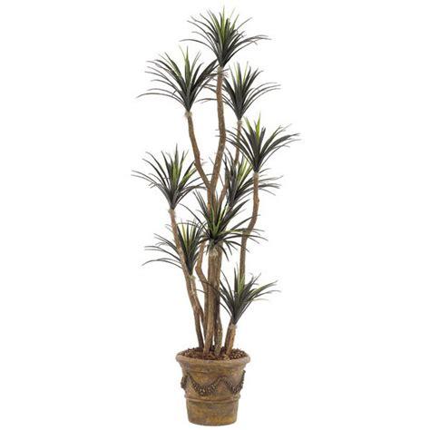 Outdoor Artificial Tree - 6 5 foot artificial outdoor liriope tree potted w 0172