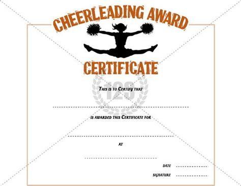 cheerleading certificate templates free cheerleading award certificate template free