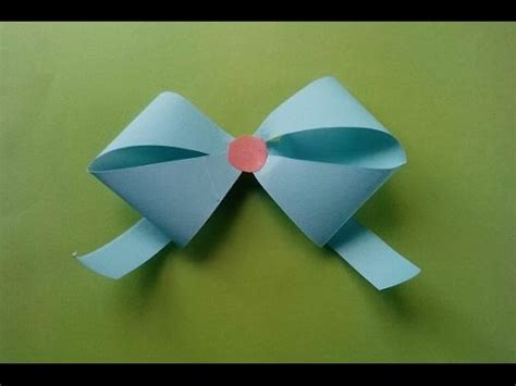 Make Paper Ribbon - how to make origami paper cutting bow ribbon easy and