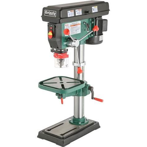 bench drill presses g7943 grizzly 12 speed heavy duty bench top drill press