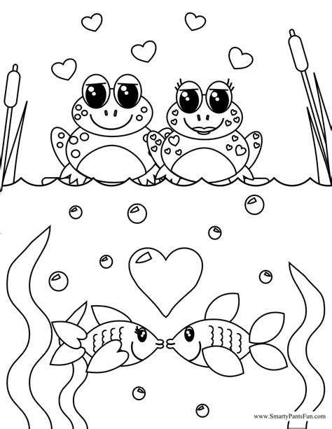smarty pants fun printables valentines coloring page