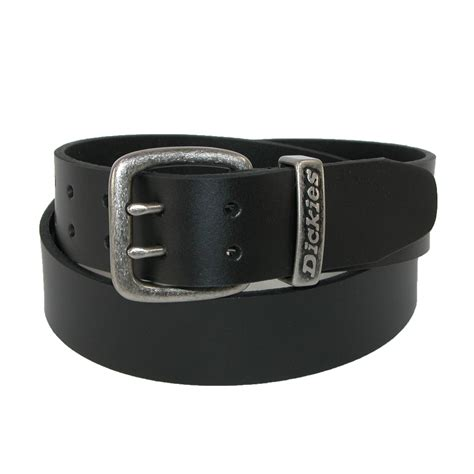 mens leather two prong casual 1 1 2 inch belt by dickies