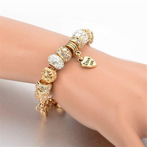 Charm Gold gold charm bracelet uniqistic