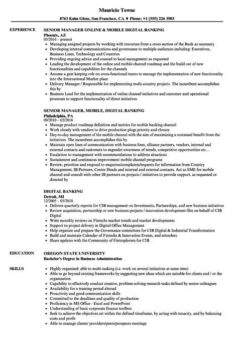 Banking Resume Exles by Banking Resume Exles Resume Template Easy Http