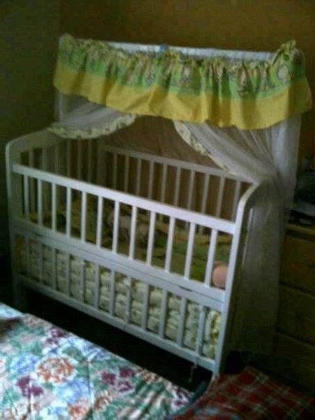 Ranjang Bayi Second kineta rental perlengkapan bayi box bayi kayu putih soft