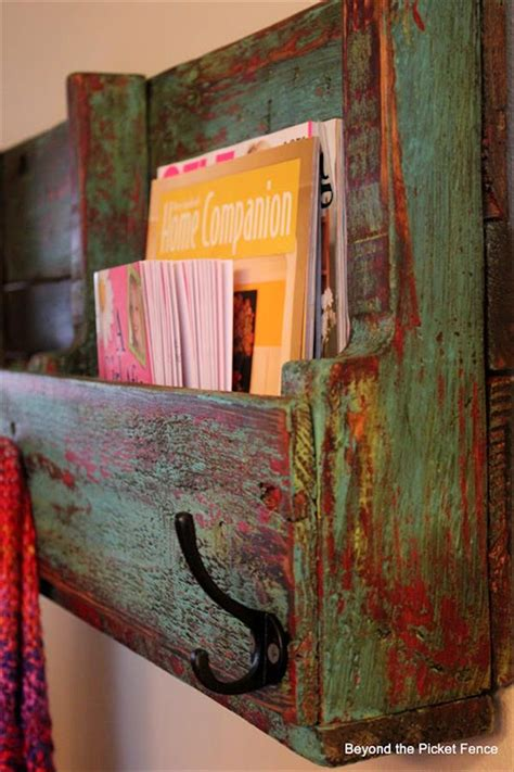 diy pallet book holder shelves pallets designs