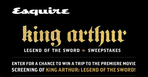 Esquire Magazine Sweepstakes - esquire king arthur sweepstakes esquire com kingarthur