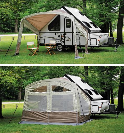 a frame awning forest river rockwood a frame pop up tent trailer 2015